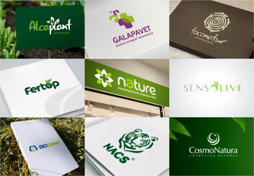 Dise o de logotipos para empresas relacionadas con la for Plan de negocios de un vivero de plantas